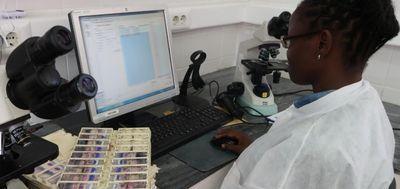 Laboratory at CISM, Mozambique