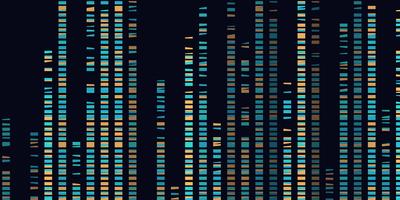 Illustration of DNA bands